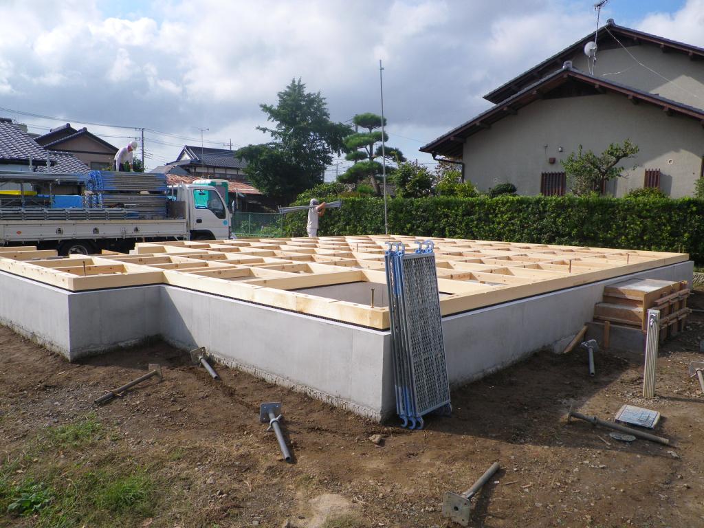 土台敷き工事